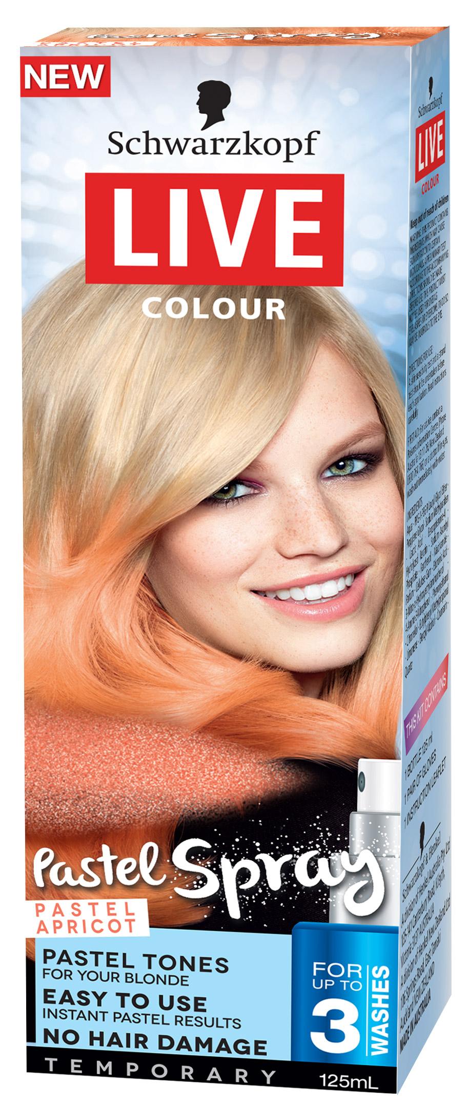LIVE Pastel Spray Pastel Apricot 3D RF-0040820