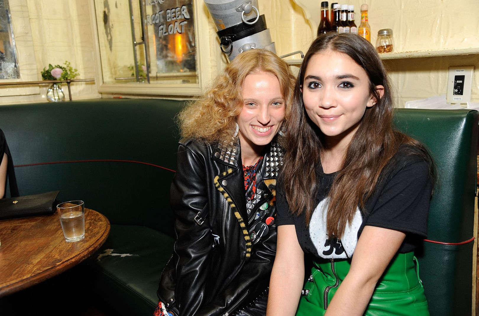 Petra Collins and Rowan Blanchard at the Coach party.