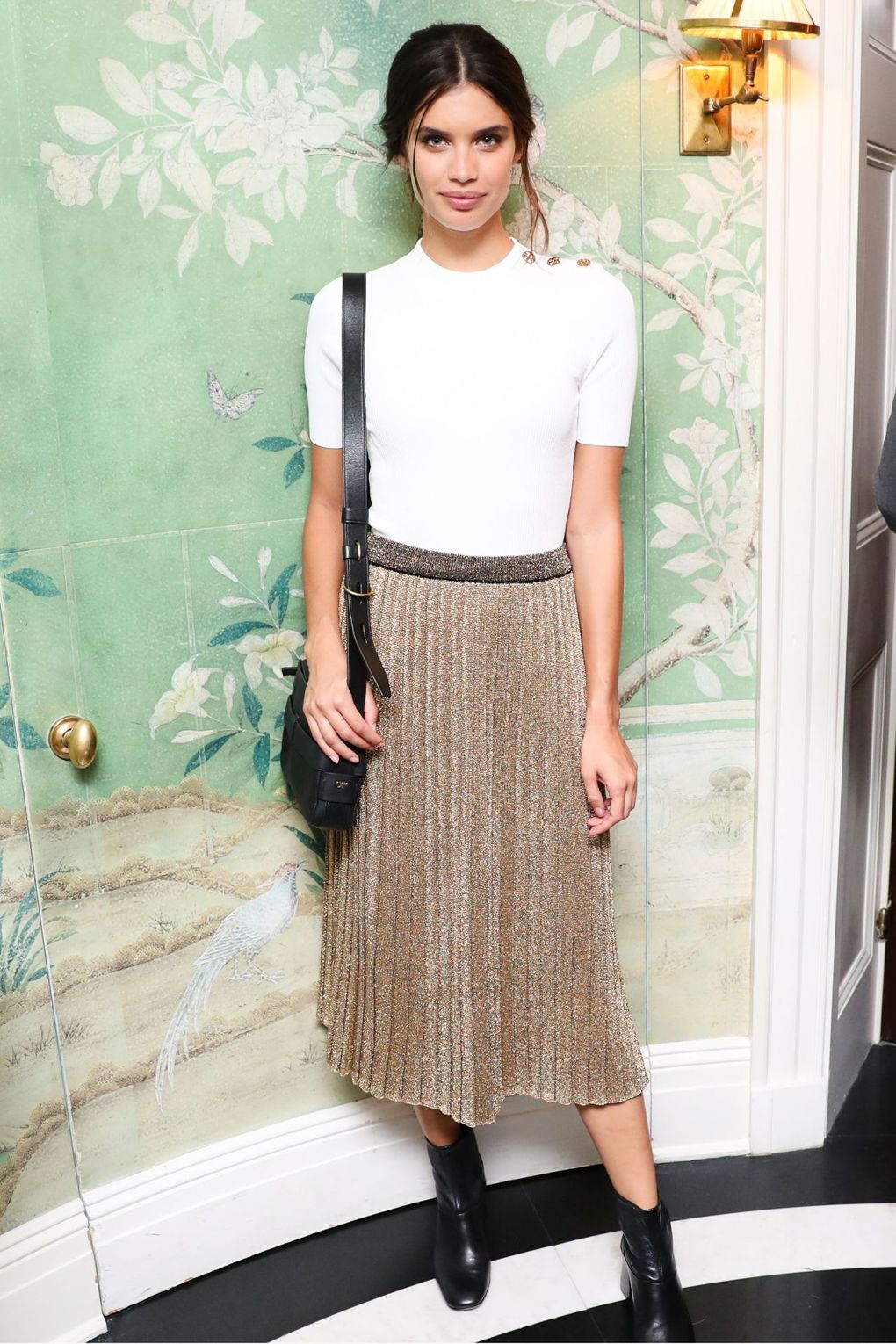Sara Sampaio at the Tory Burch dinner during NYFW.