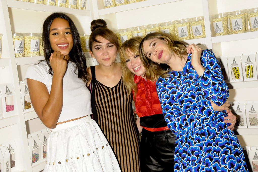 Laura Harrier, Rowan Blanchard, Natasha Lyonne, Carrie Brownstein celebrate the Kenzo 'The Realest Real' film premiere during NYFW.