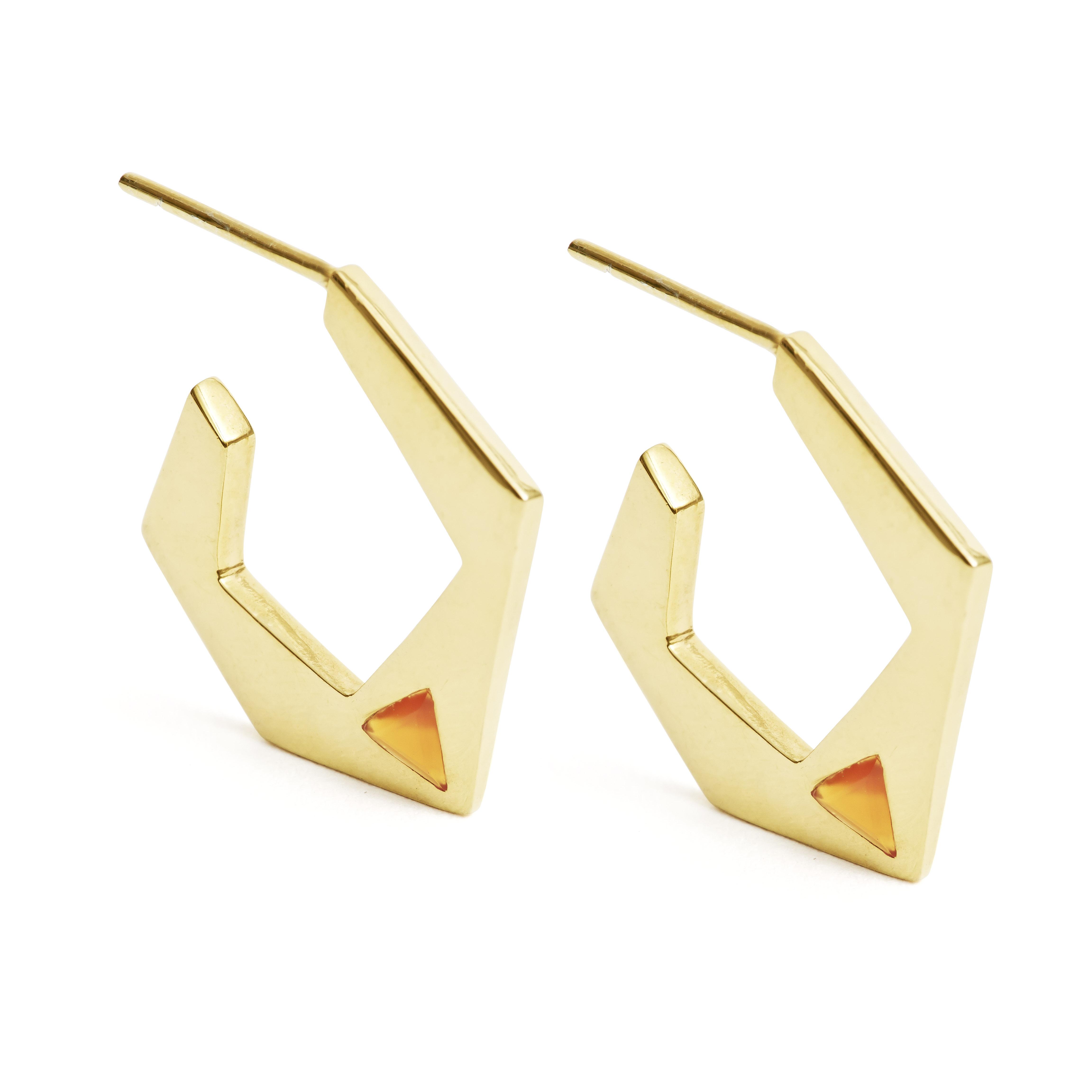 carnelian-hoops-gold