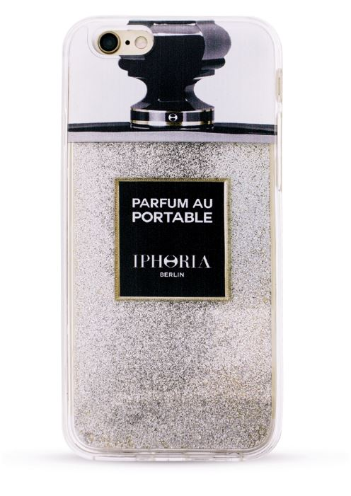 Iphoria 11 - Liquid Case Parfum au Portable Silver Glitter Case - iPhone 7