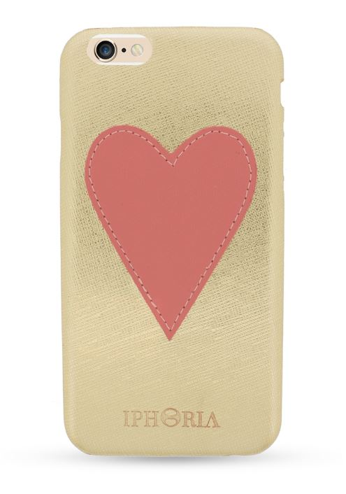 Iphoria 6 - Pink Heart Patch Case - iPhone 6