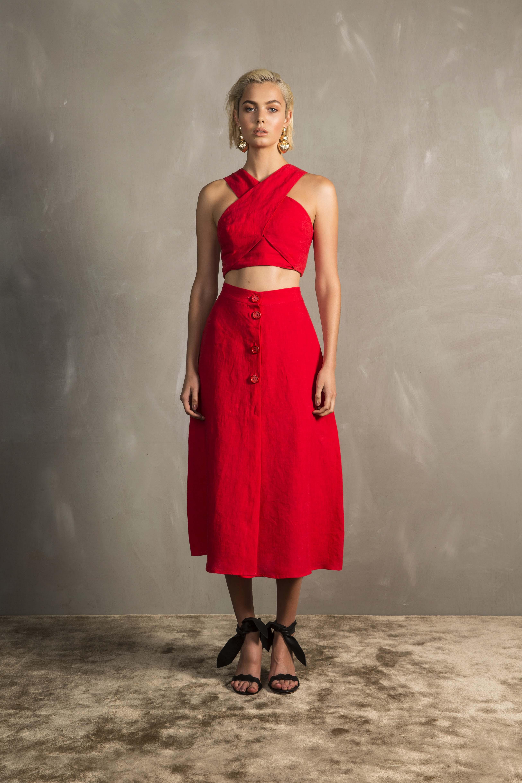 RUBY Amarena Crop Top & Amarena Skirt