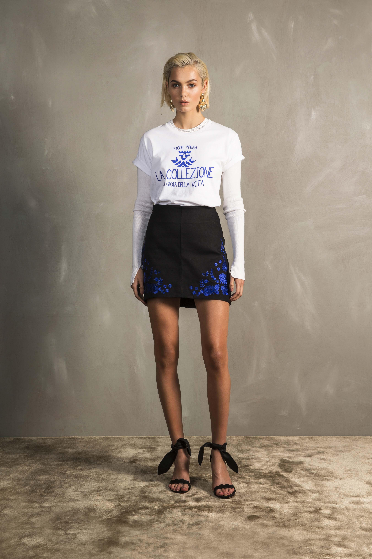 RUBY La Collezione T-Shirt, Raffaela Crochet Longsleeve & Fiore Miniskirt