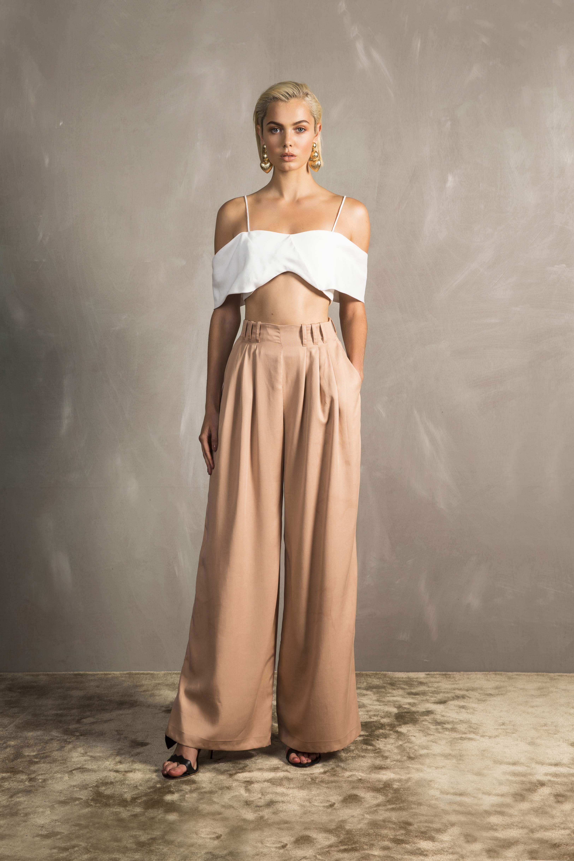RUBY Paloma Crop Top & Pamola Trouser_Caramel