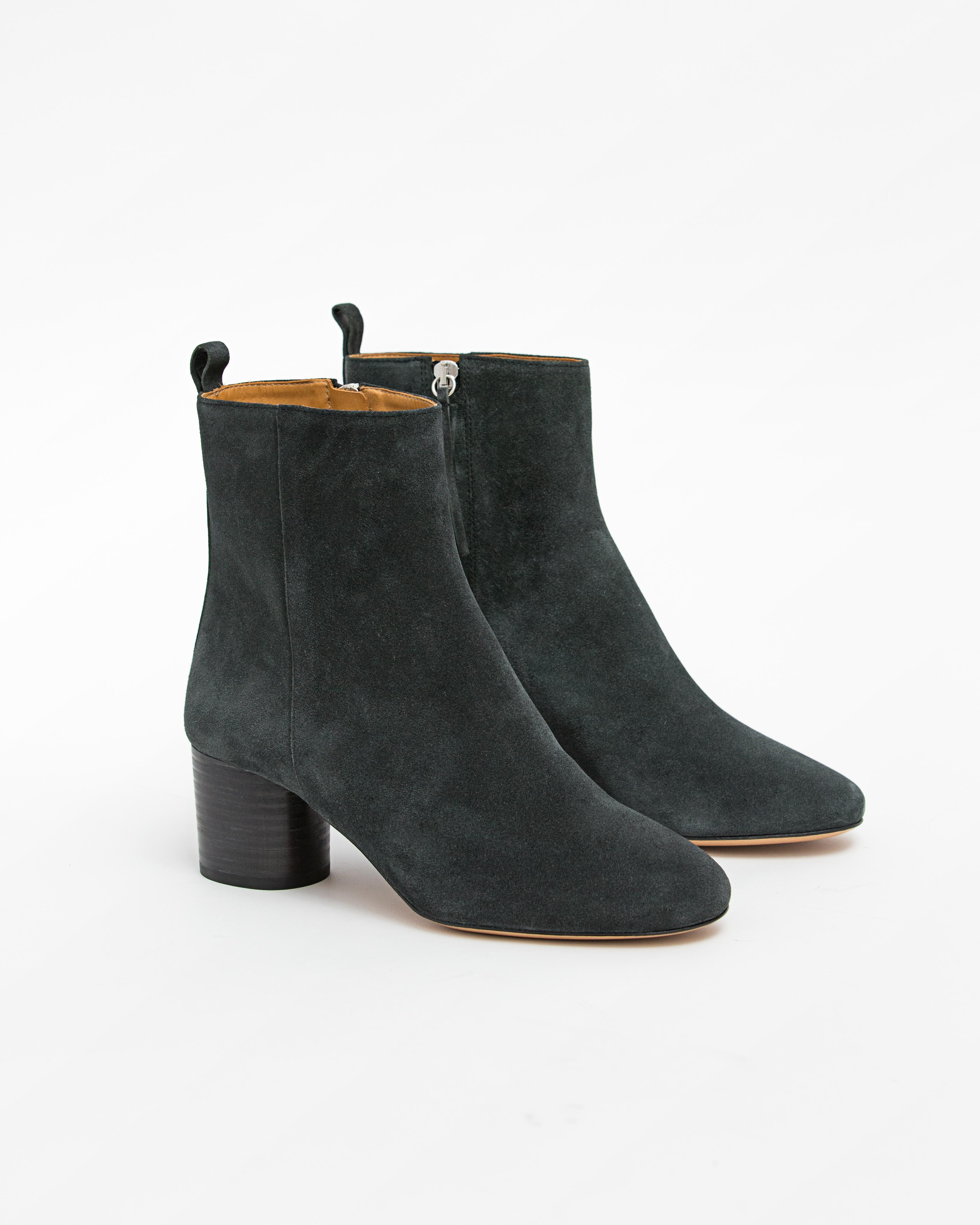 Isabel Marant Etoile 4 - Deyissa Suede Ankle Boot - Faded Black