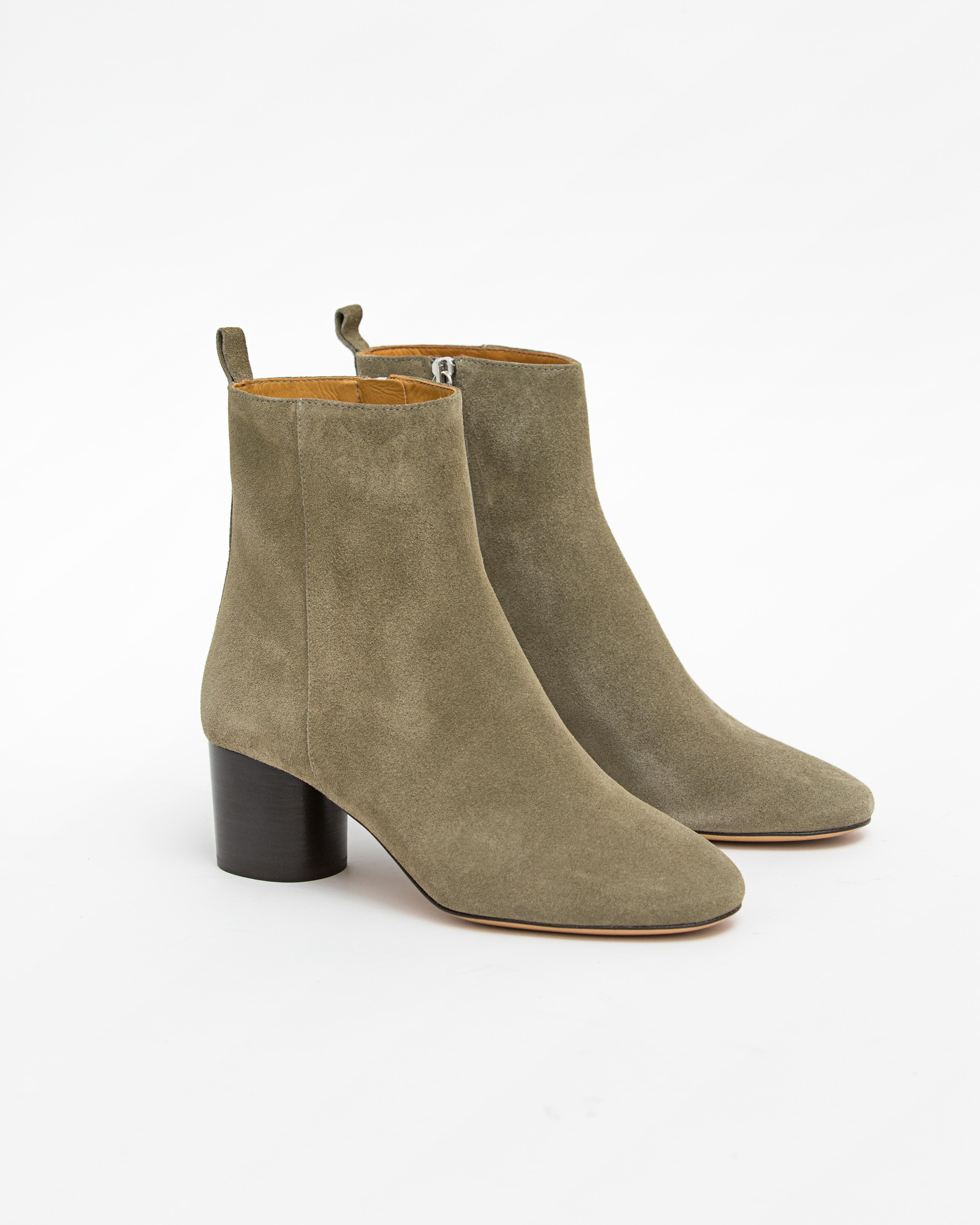 Isabel Marant Etoile 5 - Deyissa Suede Ankle Boot - Taupe