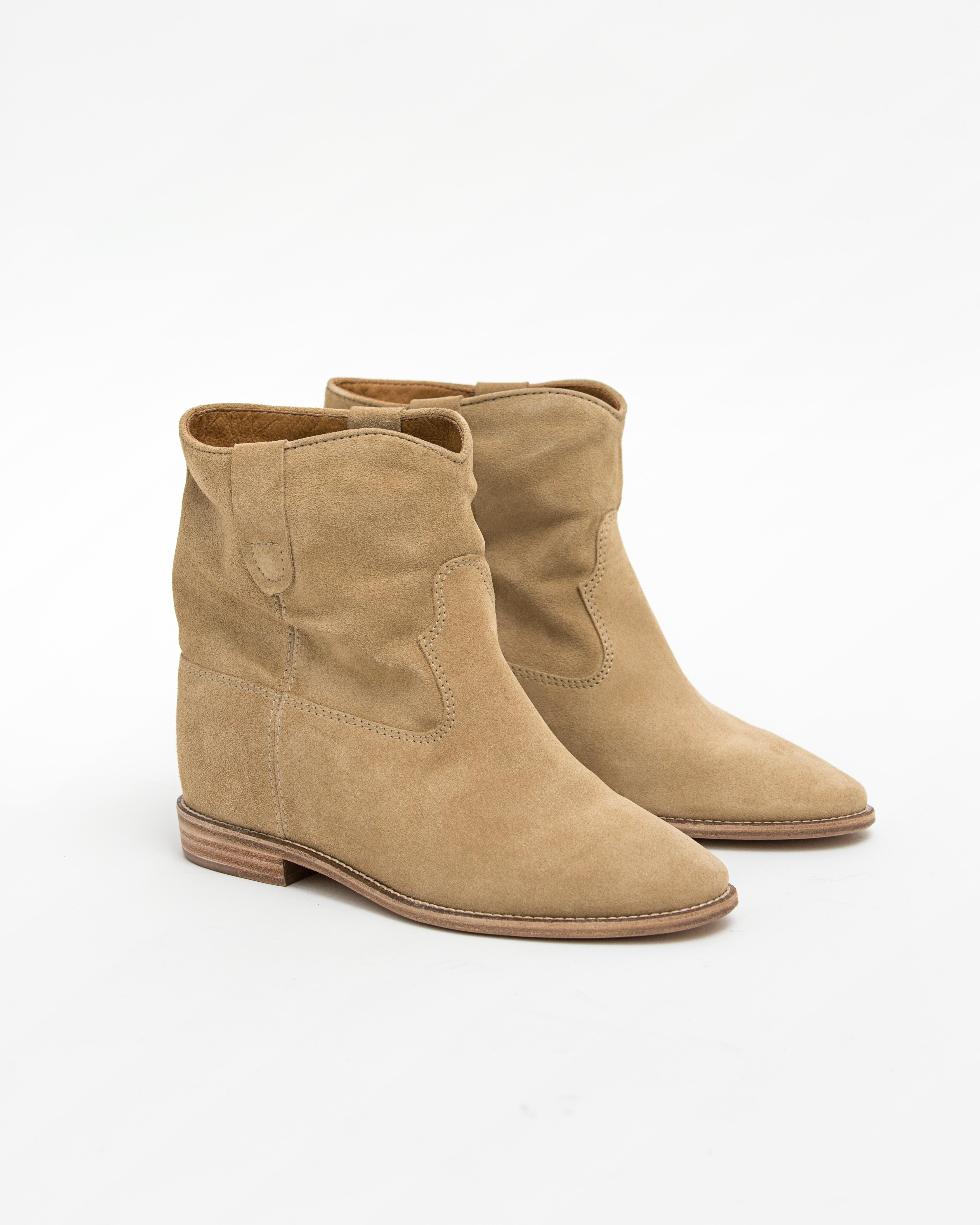 Isabel Marant Etoile 7 - Crisi Suede Boot - Beige
