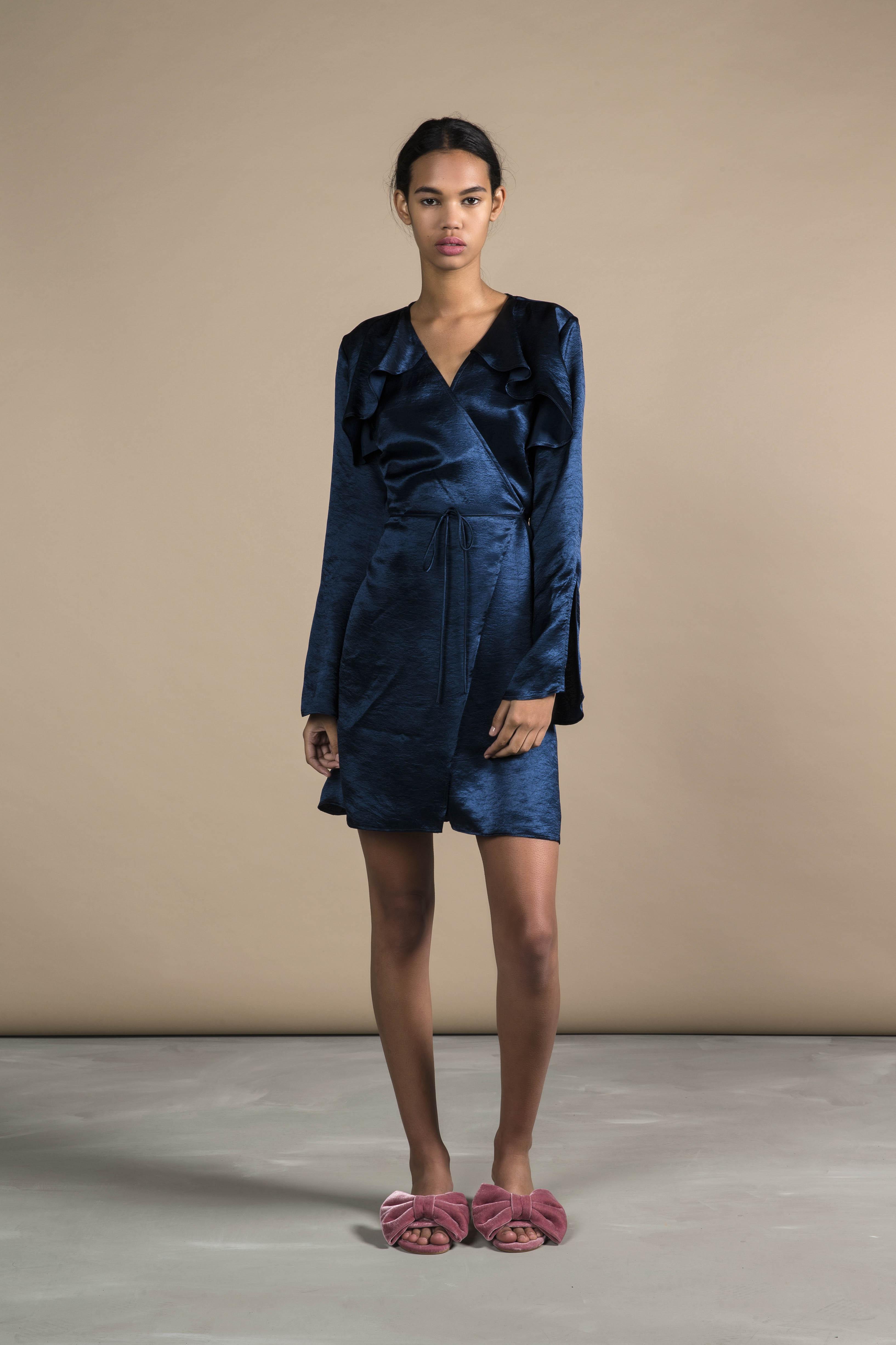RUBY Lucia Wrap Dress_Navy