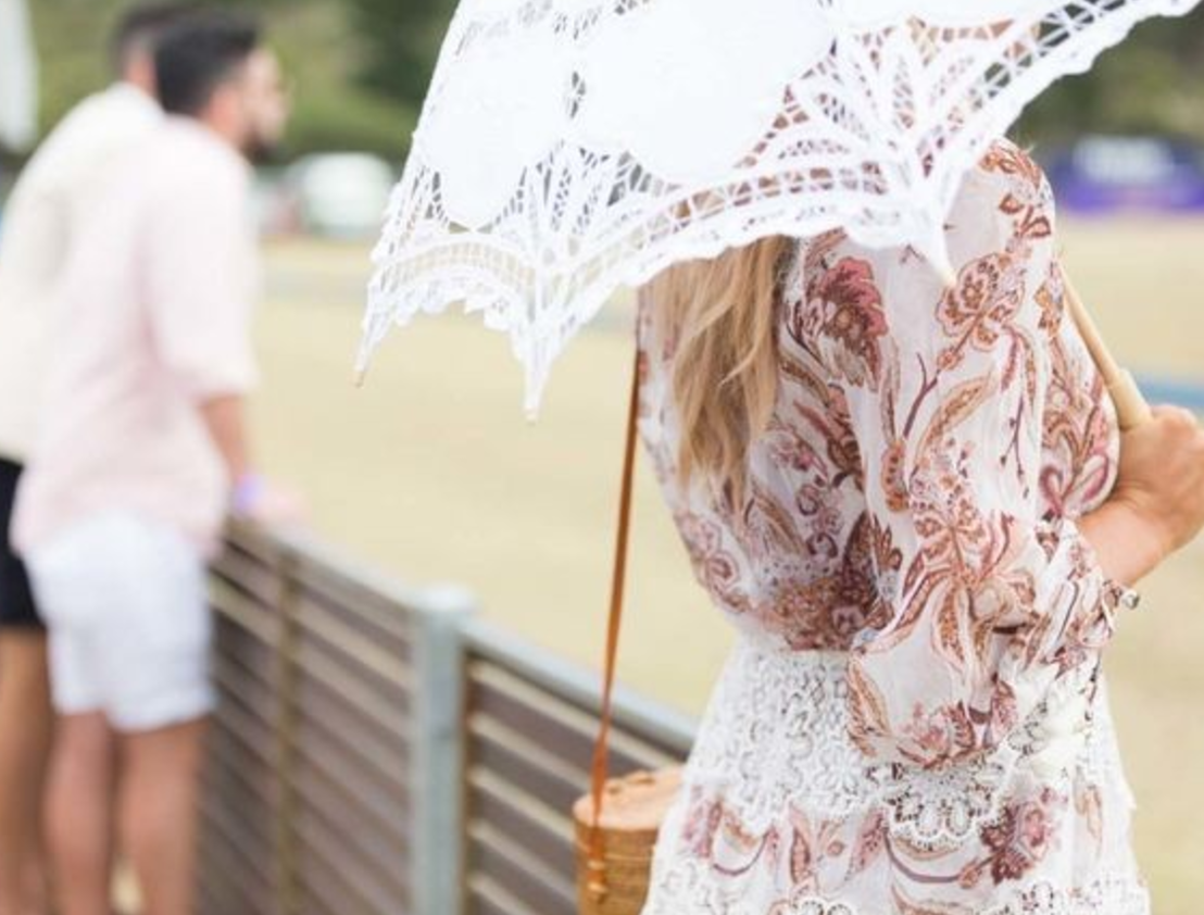 Stay sunsafe with a vintage-inspired parasol.