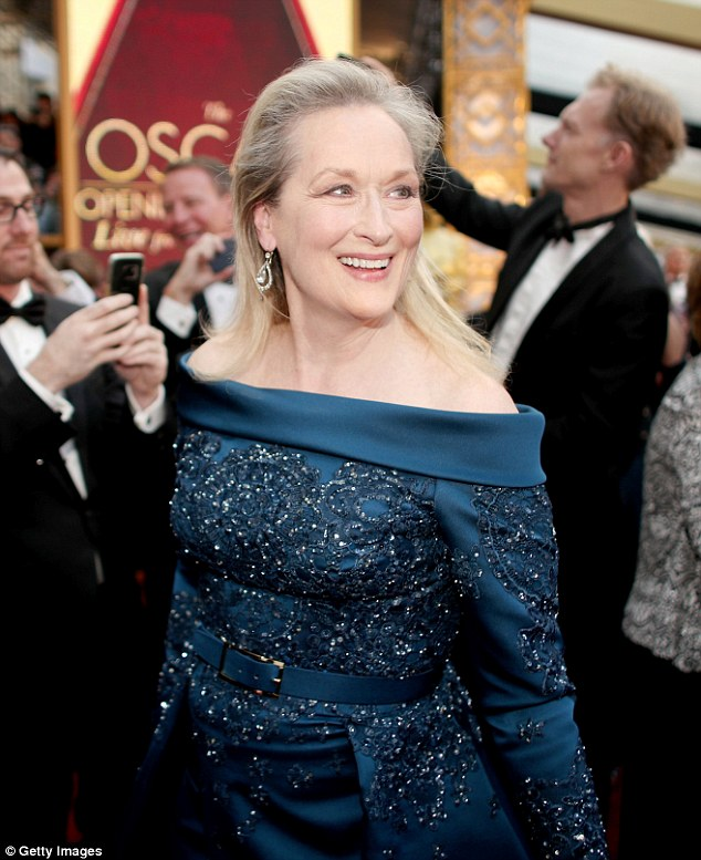 Meryl Streep's 20th Oscar nomination was overshadowed by a controversy with Karl Lagerfeld who claimed that Streep had turned down a dress from Chanel because another designer was going to pay her to wear their dress.  Streep said this was not the case, and wore a stunning Elie Saab dress.