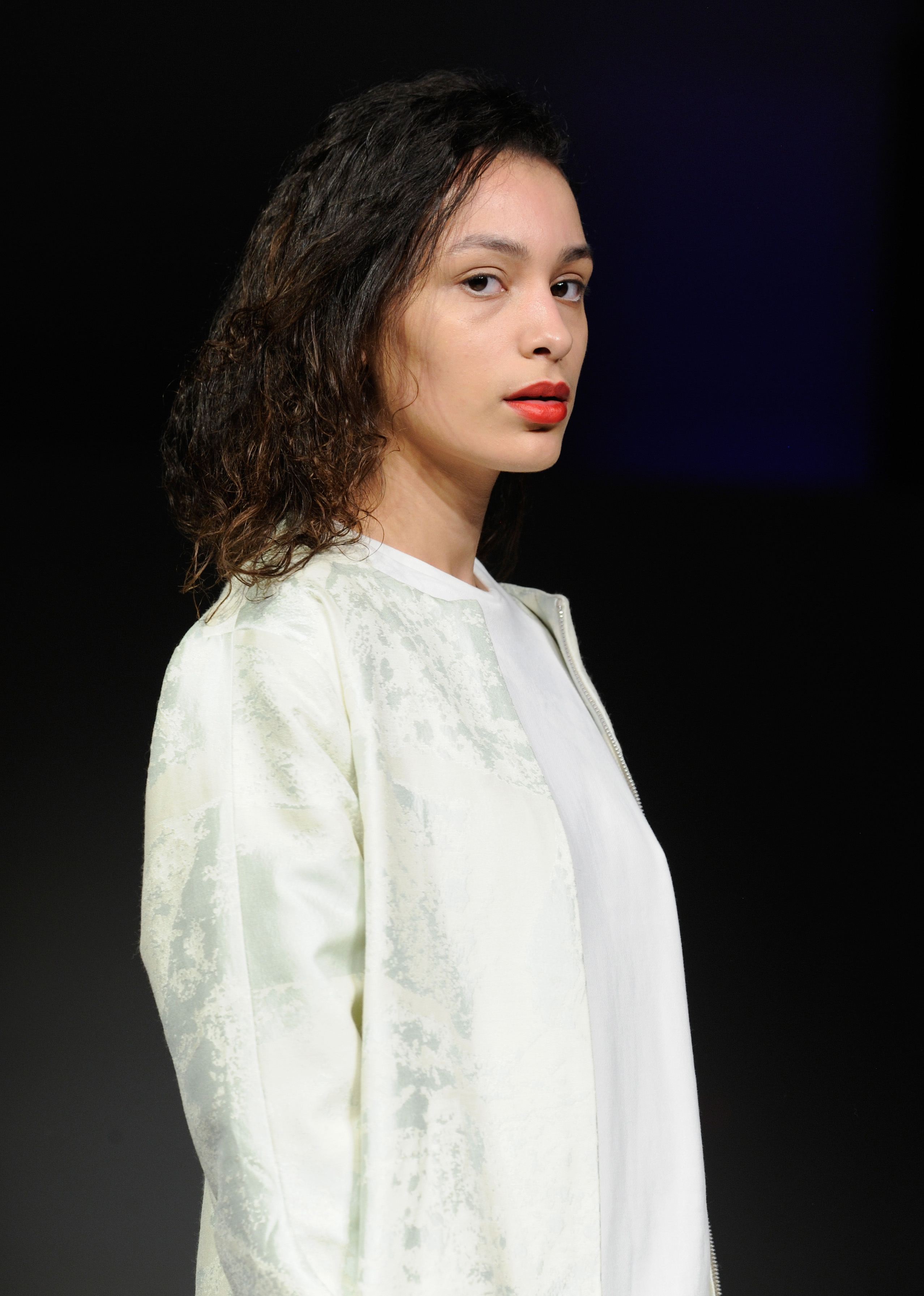 VANCOUVER, BC - MARCH 21:  A model walks the runway wearing Keem at Vancouver Fashion Week Fall/Winter 2017  at Chinese Cultural Centre of Greater Vancouver on March 21, 2017 in Vancouver, Canada.  (Photo by Arun Nevader/WireImage)