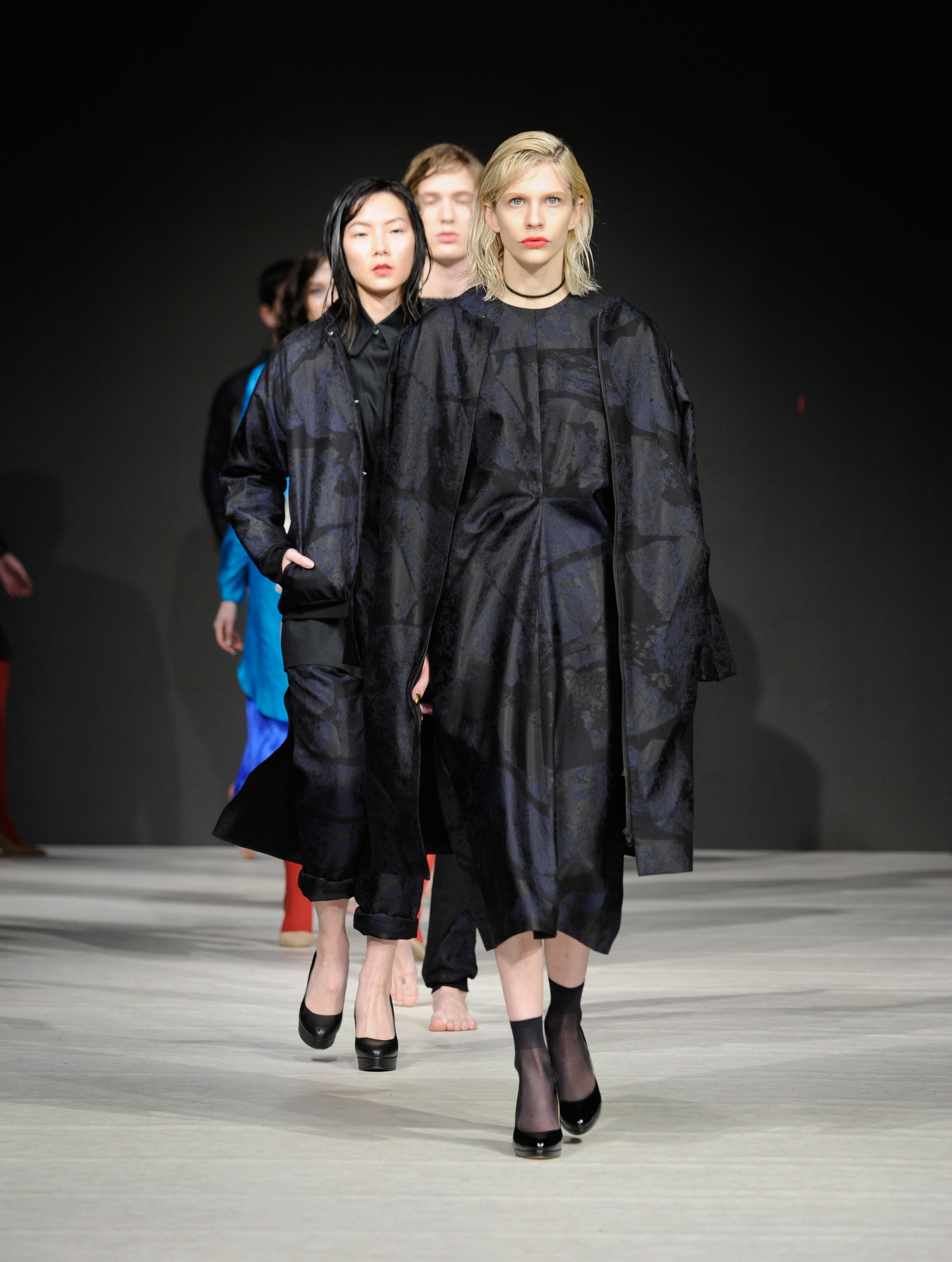VANCOUVER, BC - MARCH 21:  Models walk the runway wearing Keem at Vancouver Fashion Week Fall/Winter 2017  at Chinese Cultural Centre of Greater Vancouver on March 21, 2017 in Vancouver, Canada.  (Photo by Arun Nevader/WireImage)