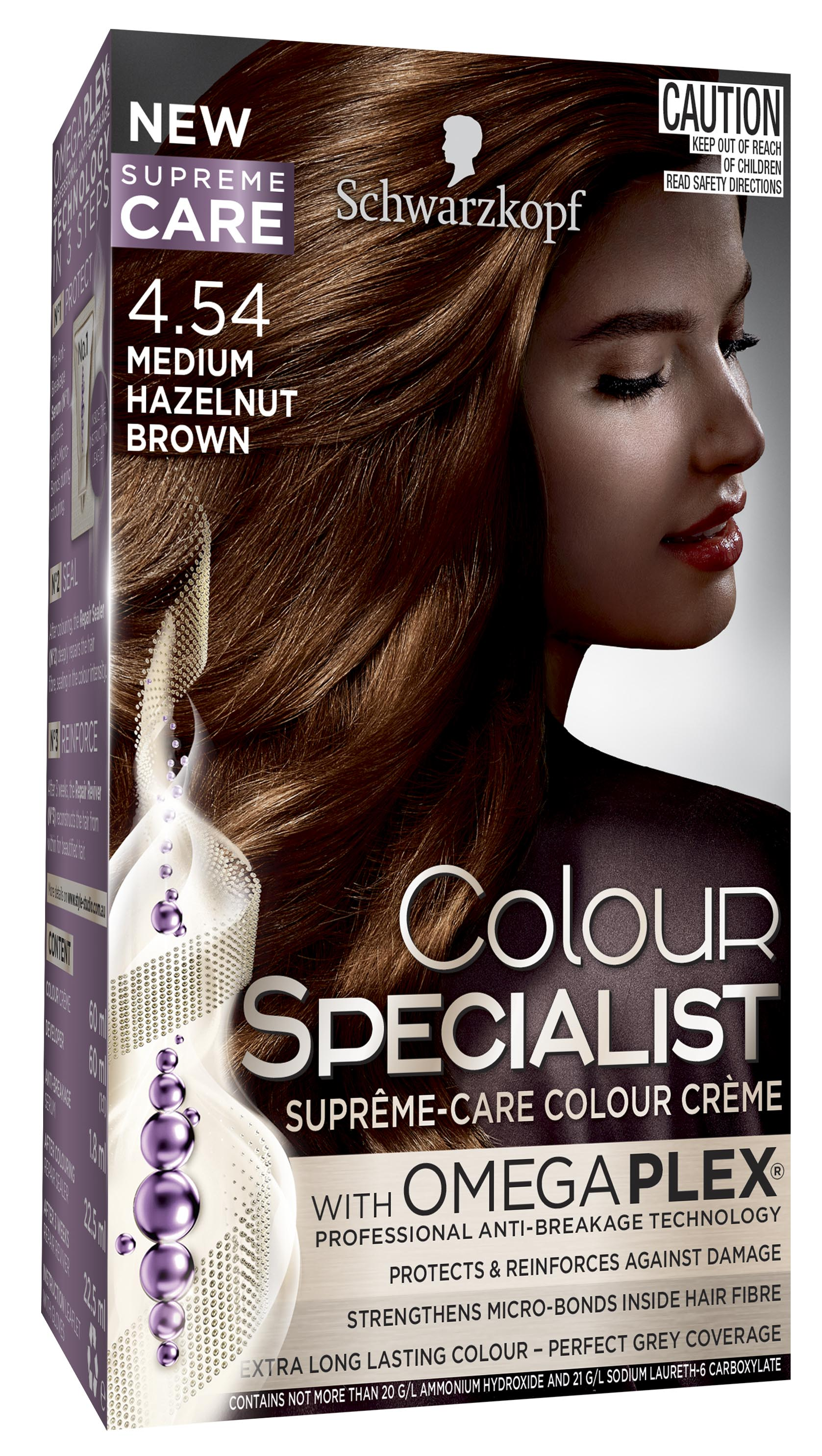 Colour Specialist 454 Medium Hazelnut Brown 3D LF-0040883