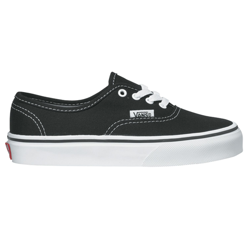 Vans Authentic Youth Black and White $69.90