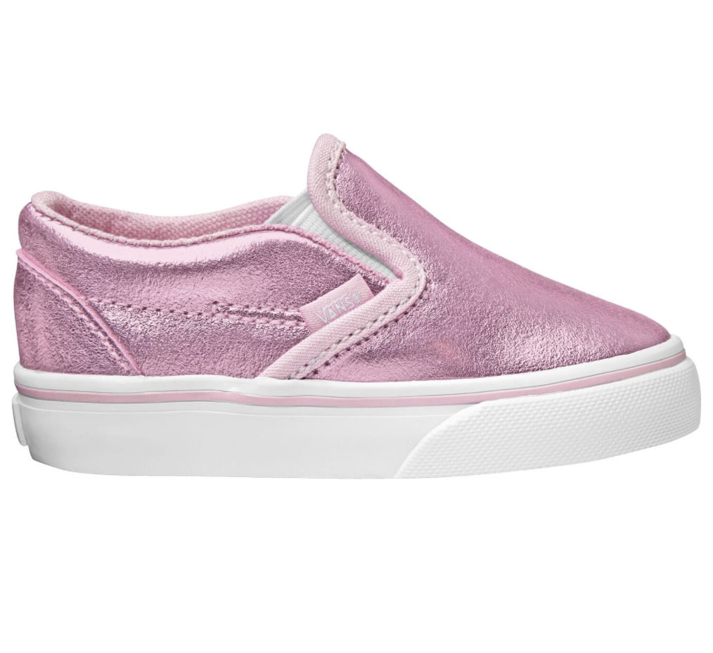 Vans Classic Slip On Metallic Pink $89.90
