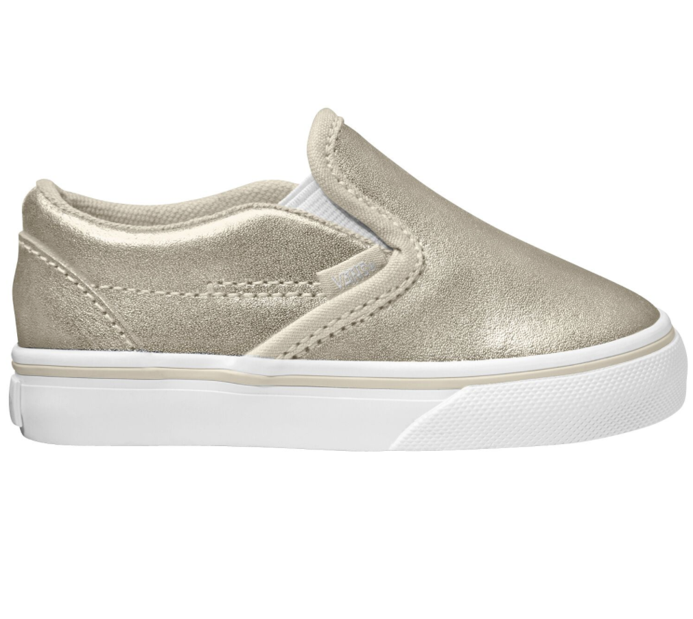 Vans Classic Slip On Metallic Silver $89.90