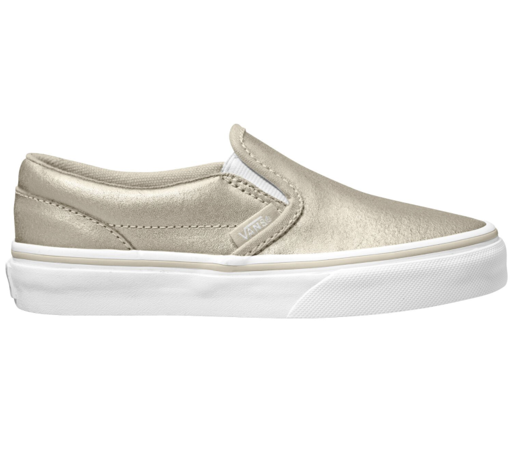 Vans Classic Slip On Metallic Silver $99.90