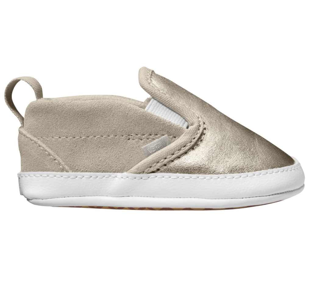 Vans Classic Toddler Slip On Metallic Silver $89.90