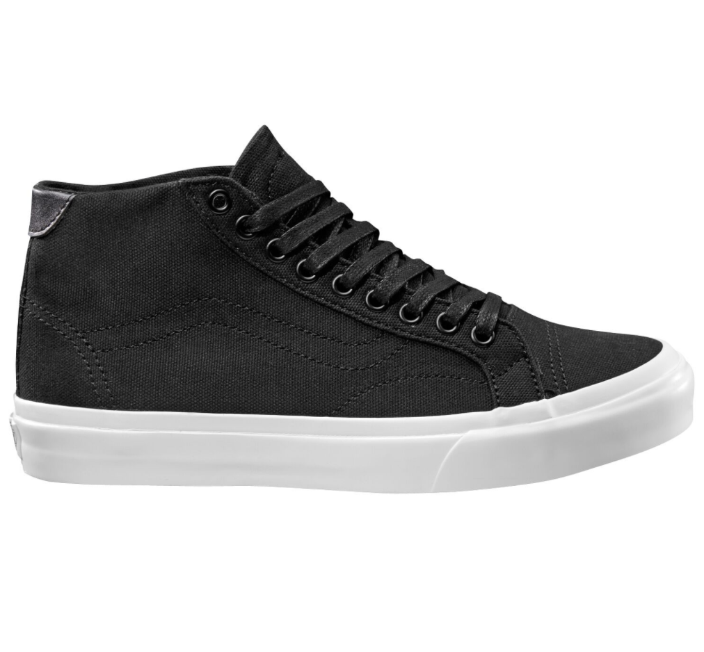Vans Court Mid Canvas Black $139.90