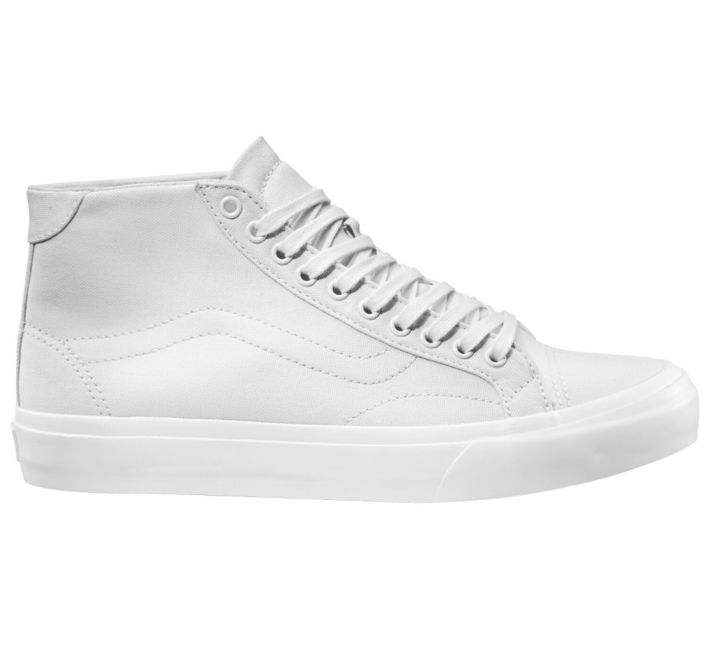 Vans Court Mid Canvas White $139.90