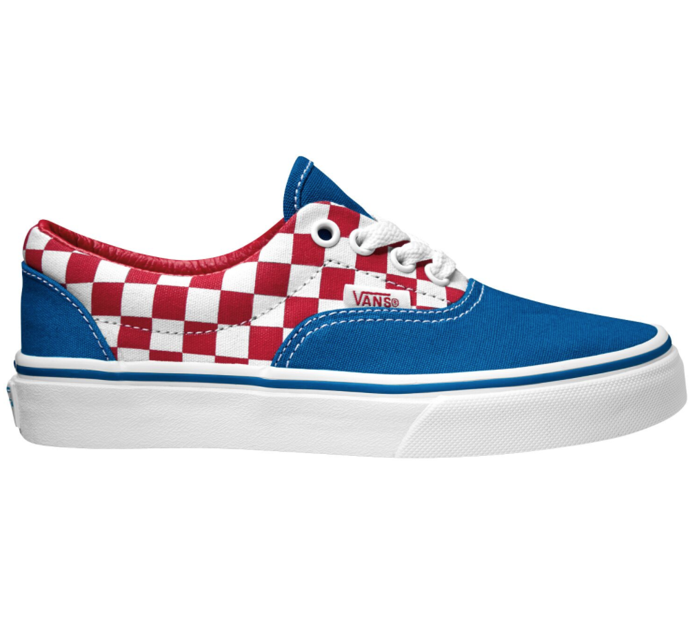 Vans Era Checkerboard Racing Red $79.90