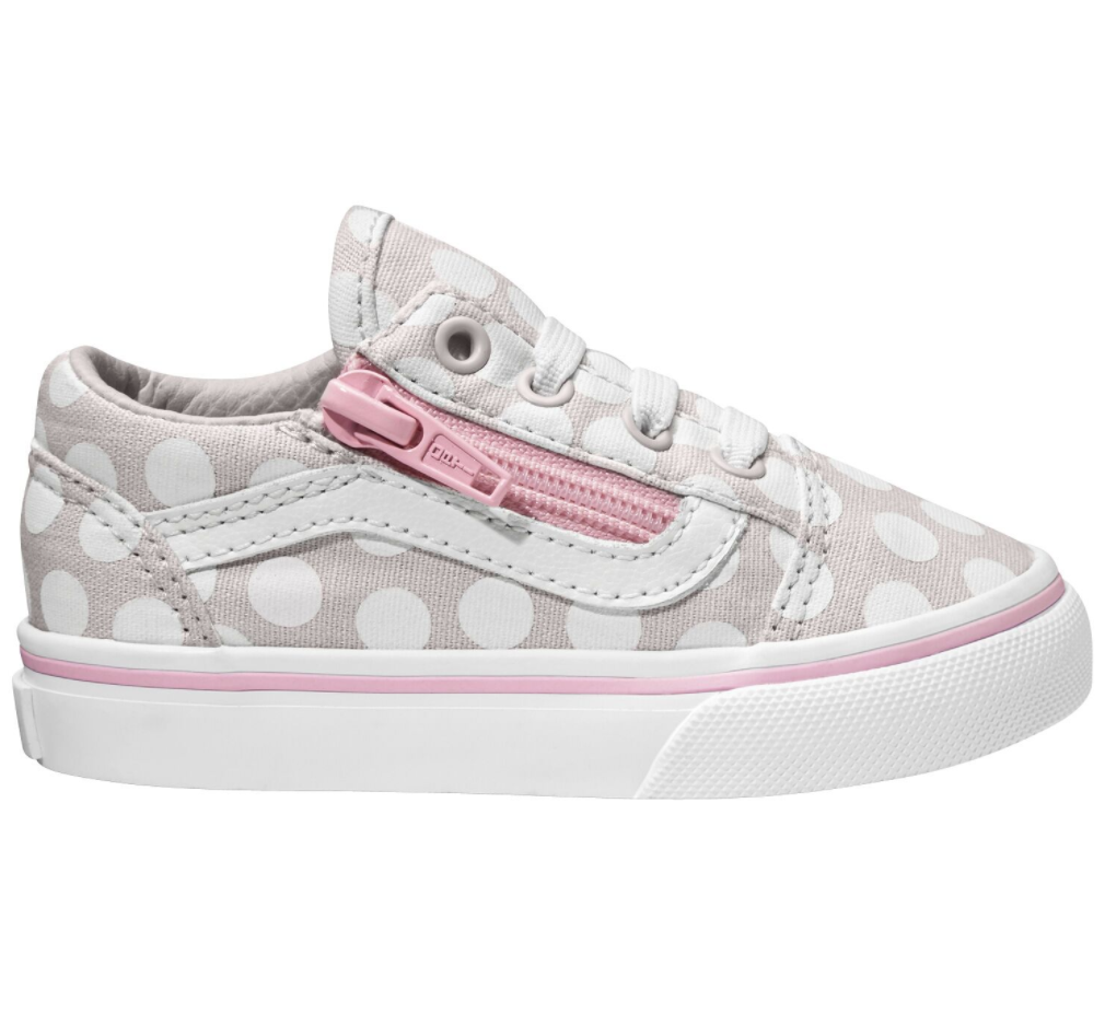 Vans Old Skool Zip Polka Dot Toddler $89.90