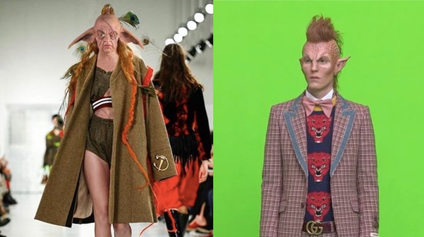 Gucci's creative director Alessandro Michele has denied claims that the brand plagiarised its latest alien-inspired ad campaign from the work of a Central Saint Martins student.