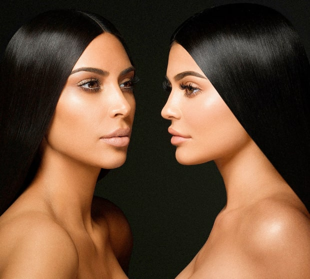 Kylie Jenner has enlisted the help of big sis Kim Kardashian for her latest line of nude lip kits entitled KKW x KYLIE.