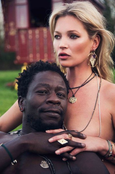 Kate Moss Launched her new limited edition jewellery collection in collaboration with Brazilian designer Ara Vartanian.