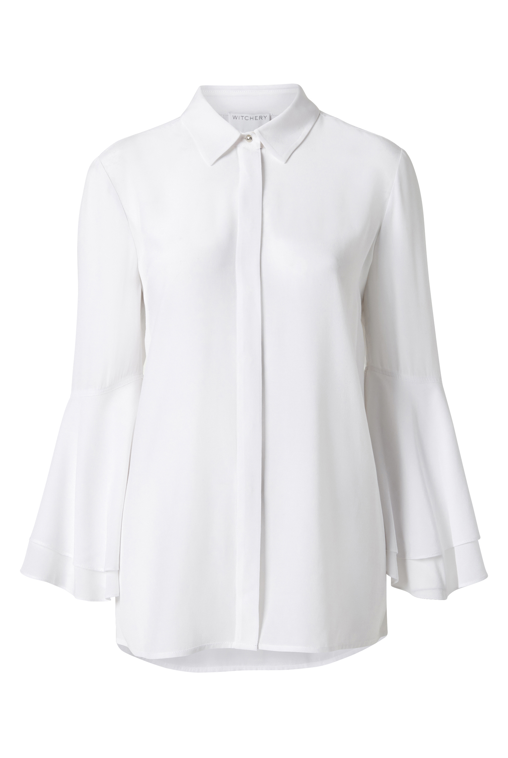 60210141_Witchery OCRF Flutter Sleeve Shirt, RRP$139.90