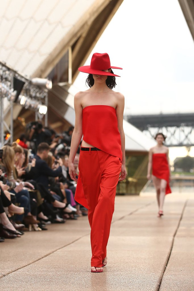 Sydney based designer Dion Lee opened Australian Fashion Week with a spectacular show at the Sydney Opera House.