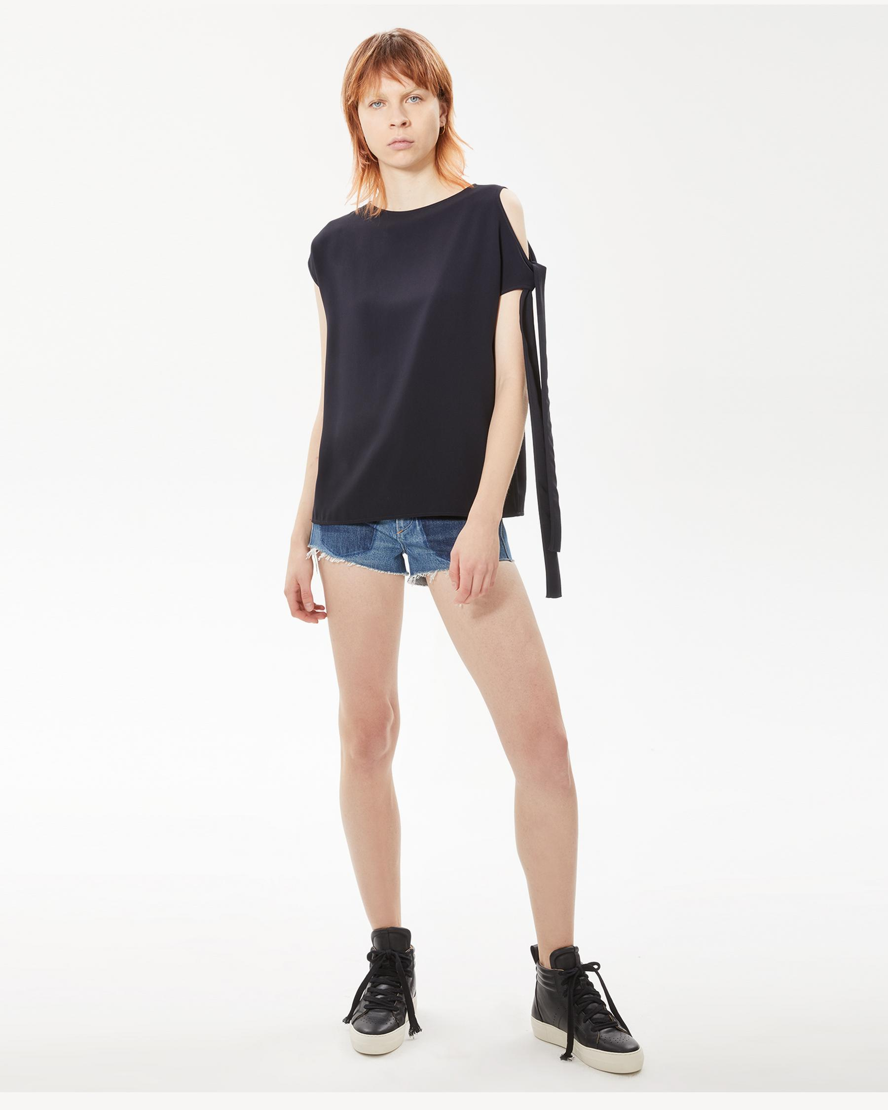 Helmut Lang 27 - Sleeve Tie Top - Navy