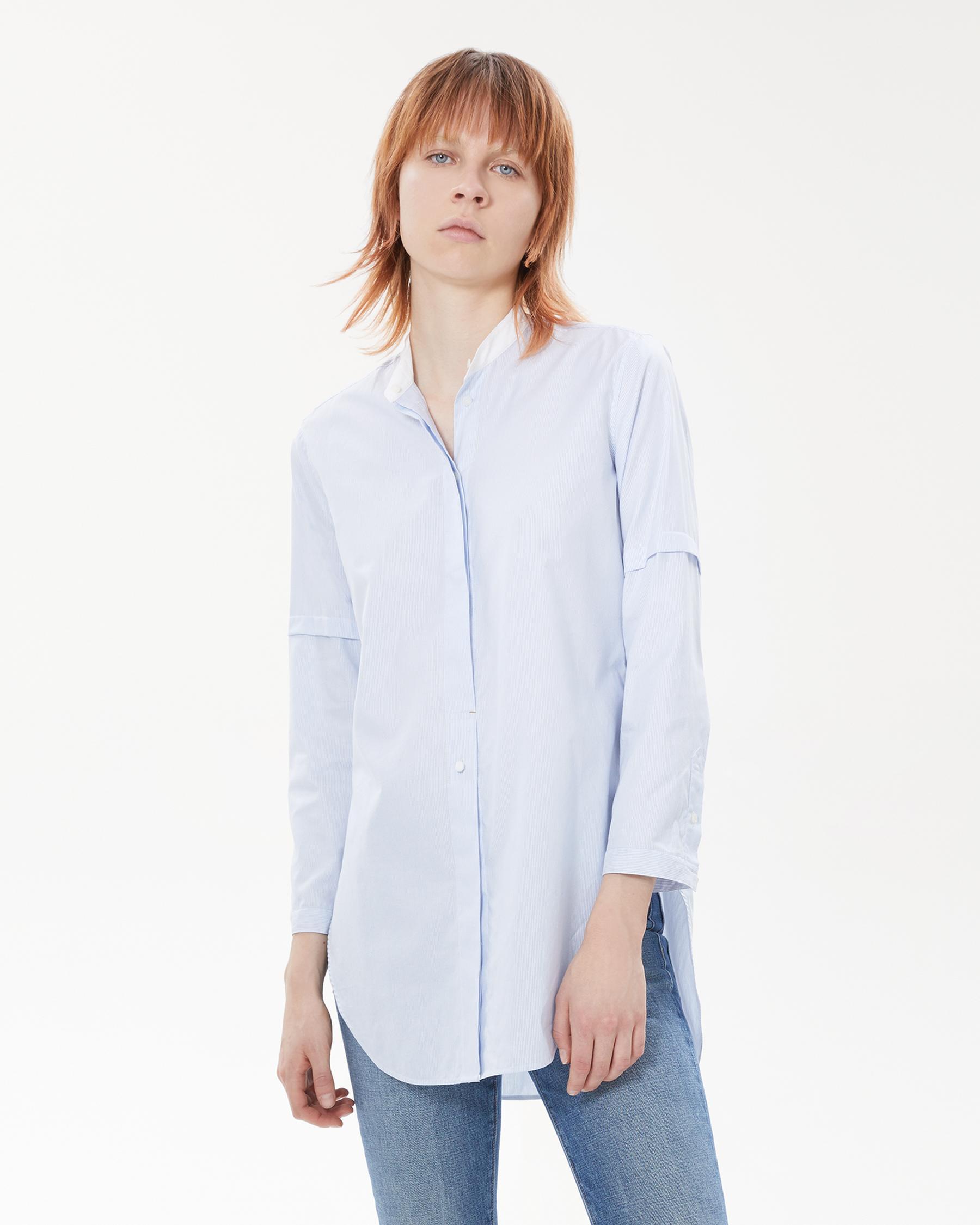 Helmut Lang 37 - Tuxedo Shirt - Blue