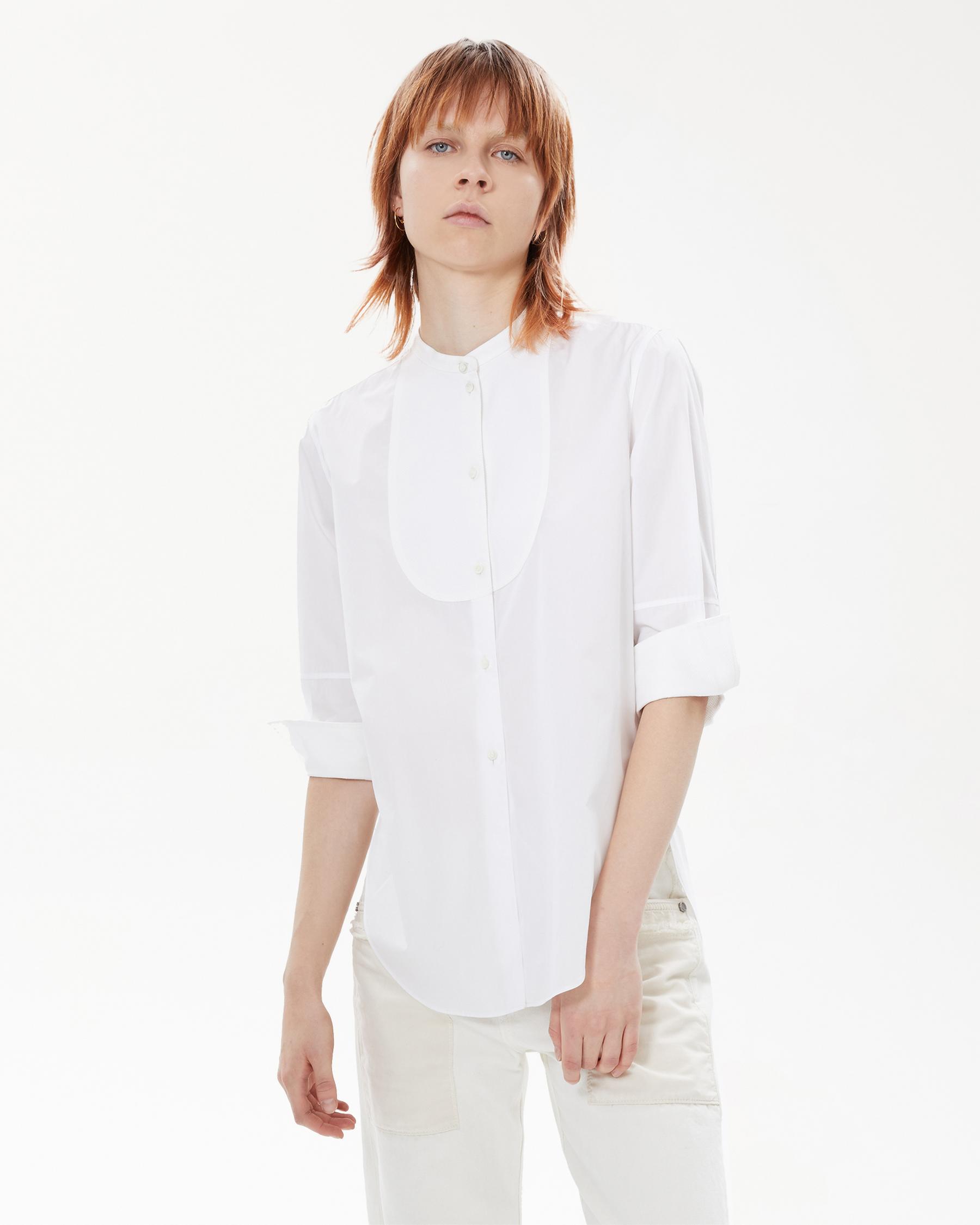 Helmut Lang 41 - Tuxedo Shirt - White