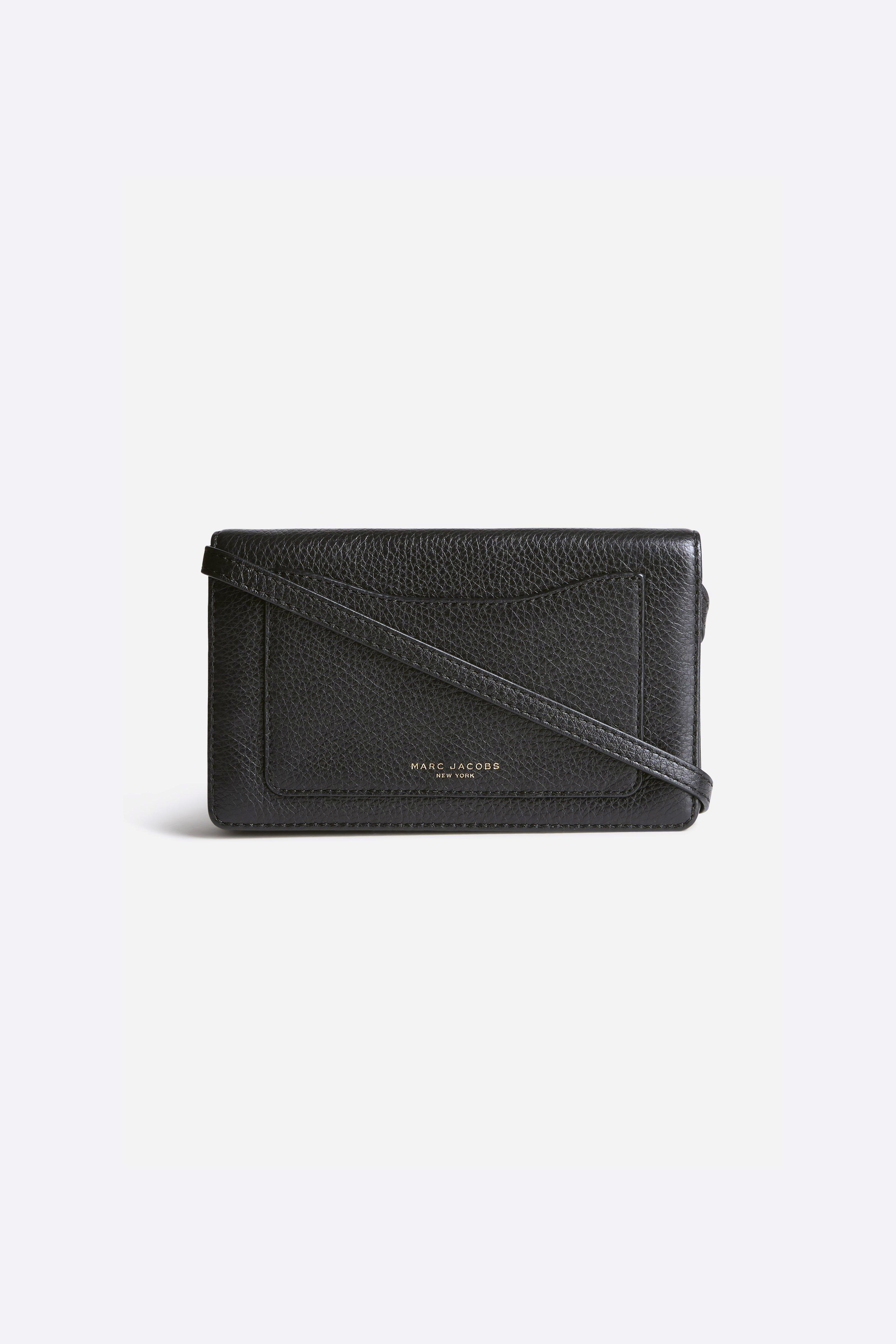 Marc Jacobs 27 - Recruit Wallet Leather Strap - Black