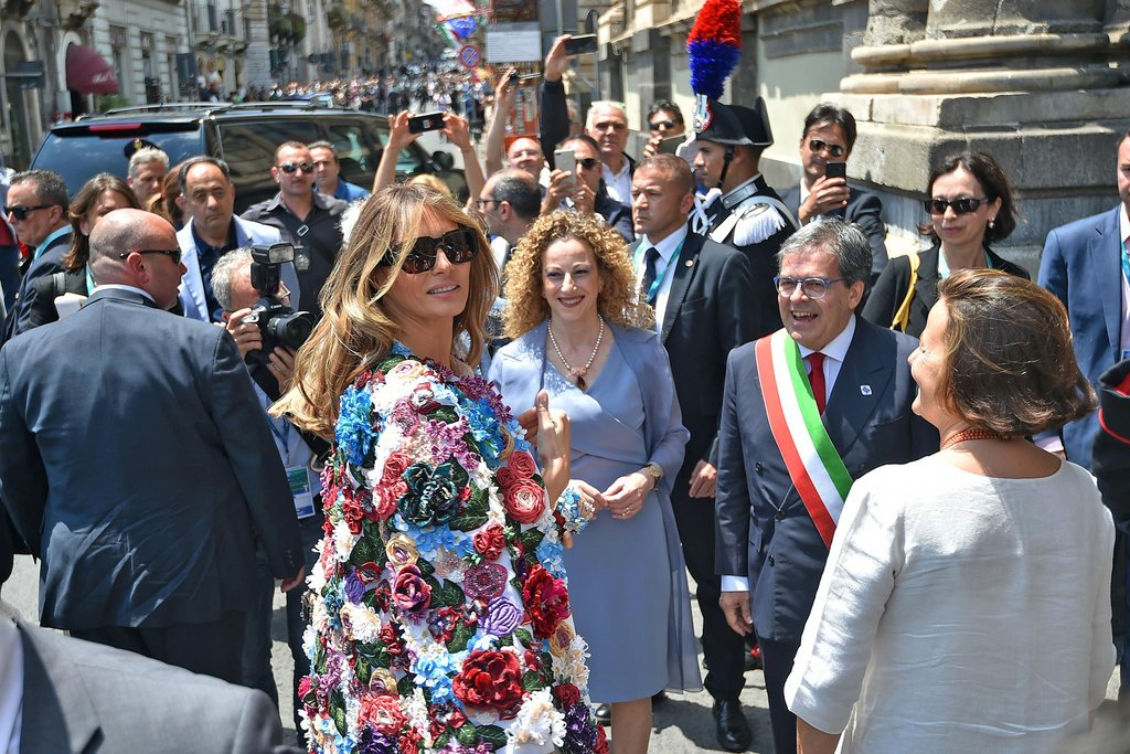Melania Trump's first overseas tour has been overshadowed by criticism about her expensive wardrobe which included a $51,000 Dolce & Gabbana coat.