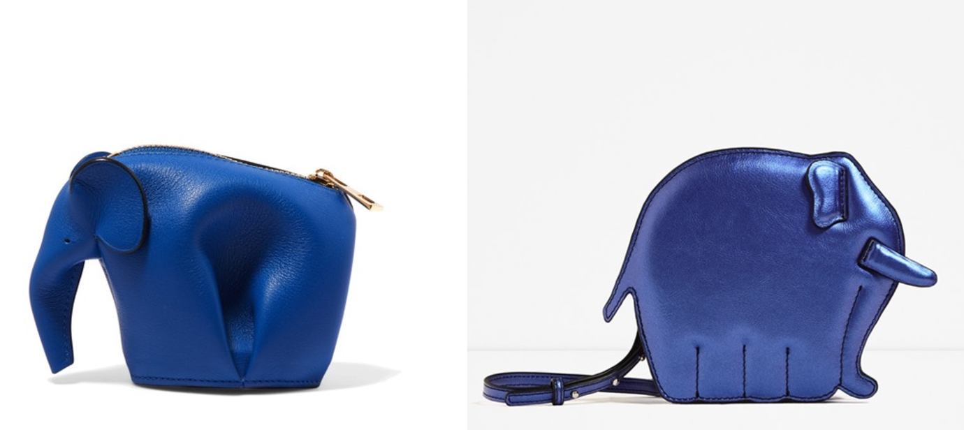 Left:  Loewe  Right:  Zara