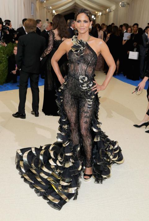 Halle Berry wearing Atelier Versace