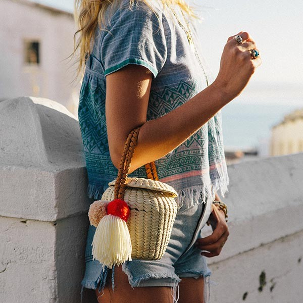 Soludos are now designing bags!  The collection features summery straw designs.
