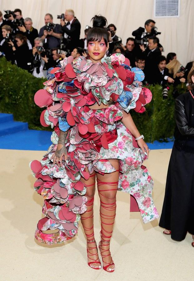 Rihanna wearing Comme des Garçons