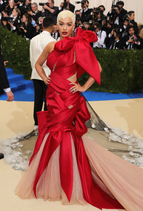 Rita Ora wearing Marchesa