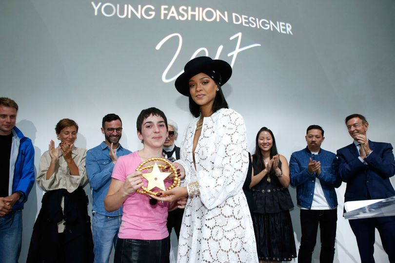 Marine Serre won the LVMH Prize for Young Designers.