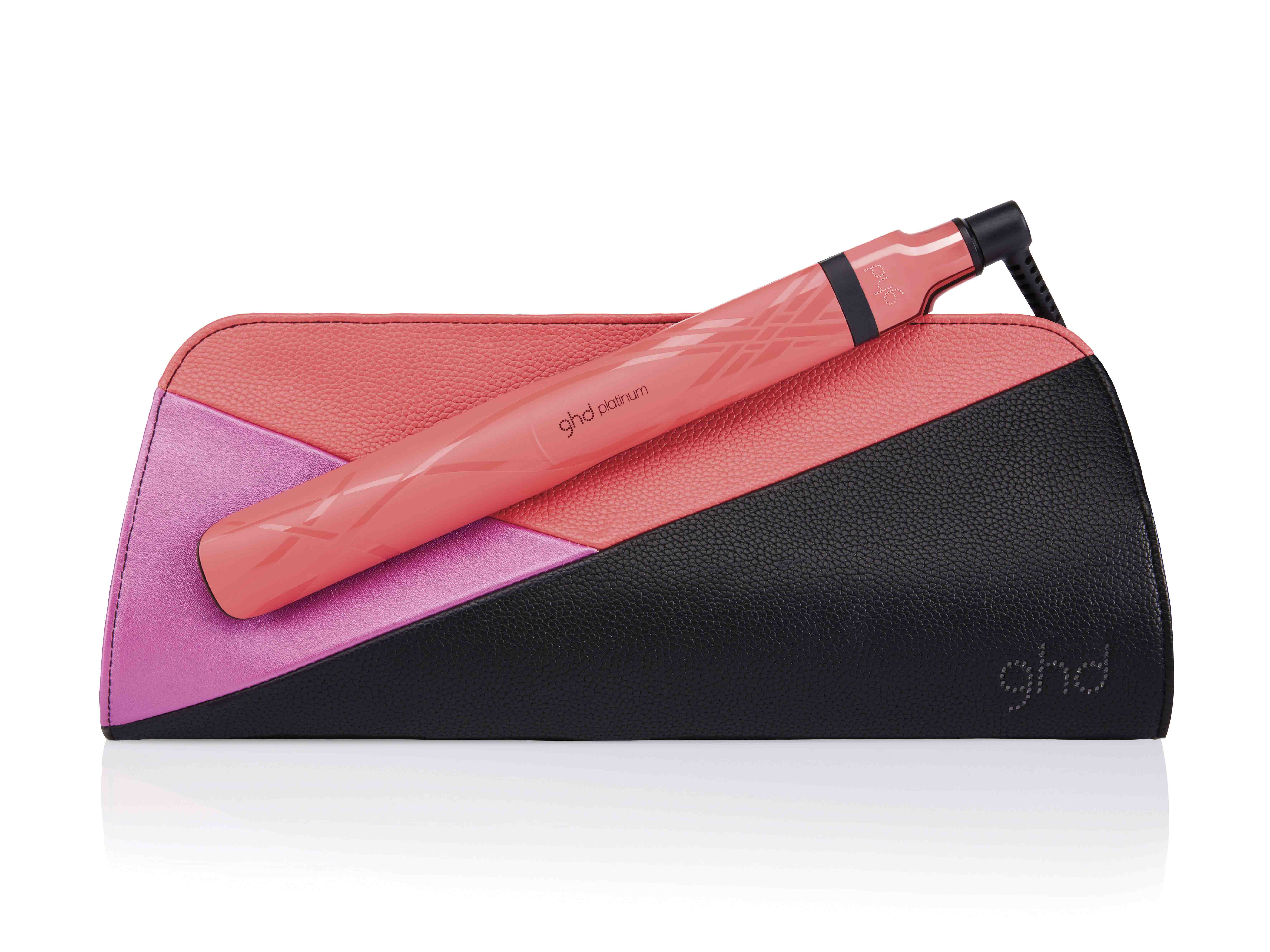 ghd pink blush platinum styler and roll bag_RRP $370