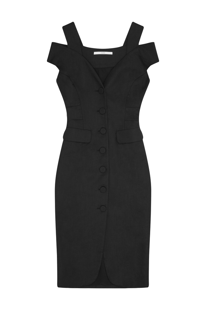 72dpi-239134b642-69.-BY-JOHNNY,-Structure-Button-Down-Dress-Black,-650,-www.byjohnny.com.au