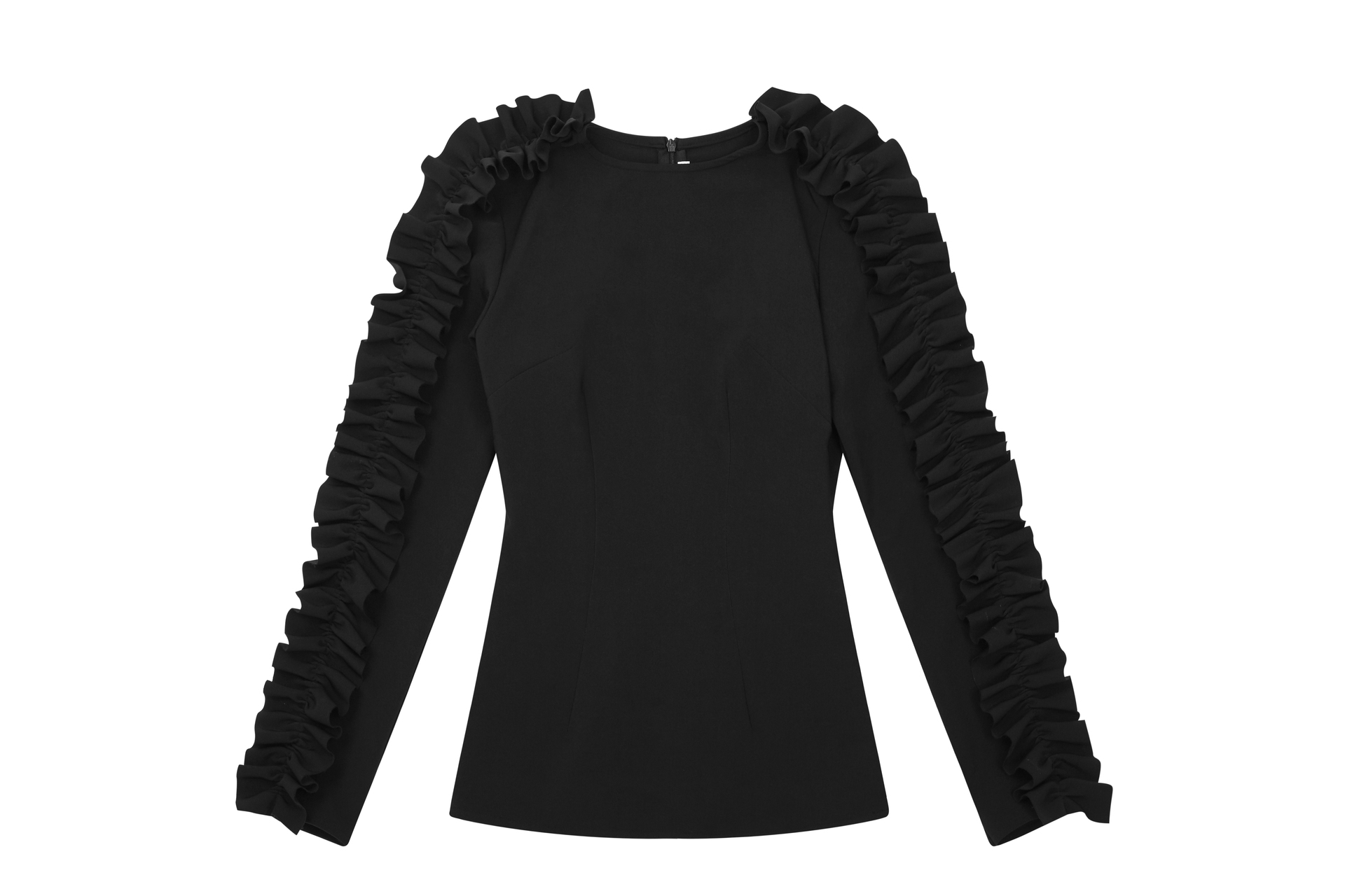 72dpi-239146ea43-57.-BY-JOHNNY,-Ruffle-Down-Sleeve-Top-Black,-280,-www.byjohnny.com.au