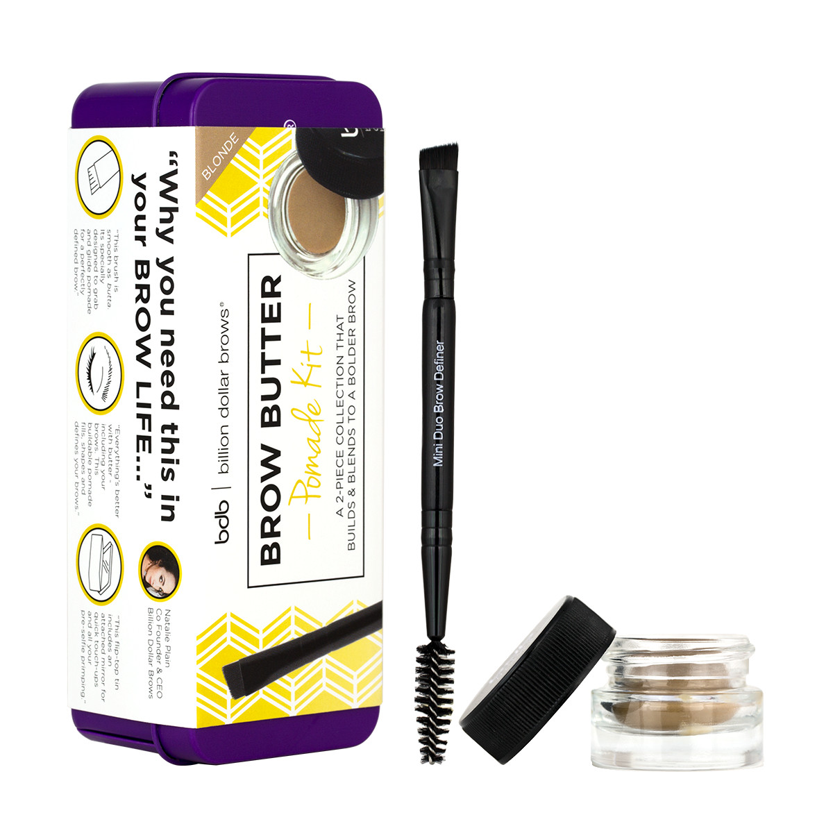 Billion Dollar Brows Brow Butter Pomade Kit in Blonde (Package)