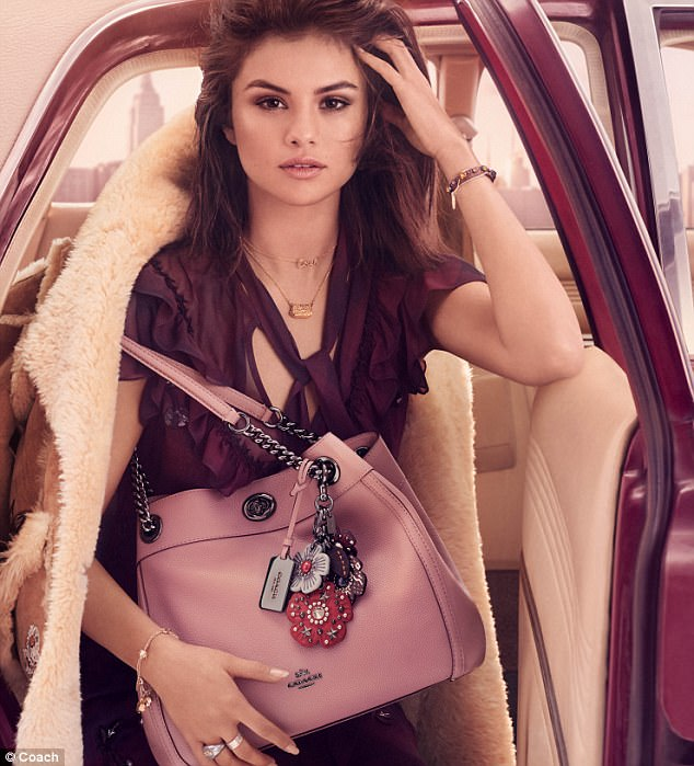 Selena Gomez not only stars in Coach campaigns, but has designed a range of bags and accessories for them.
