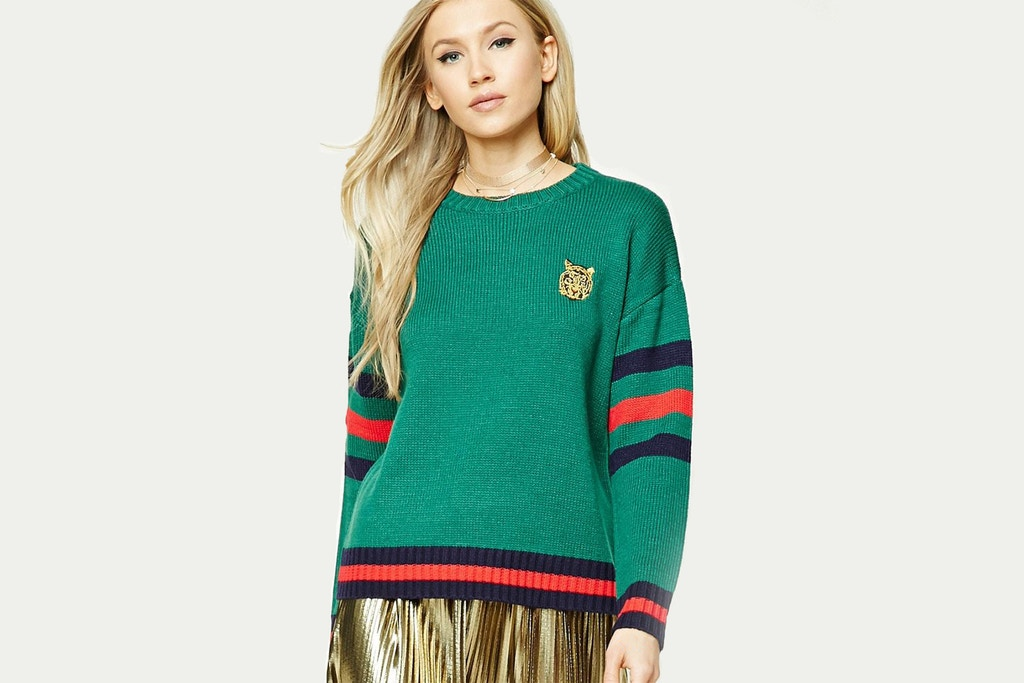 Forever 21 and Gucci are at war regarding Forever 21's use of Gucci's iconic blue and red stripe.